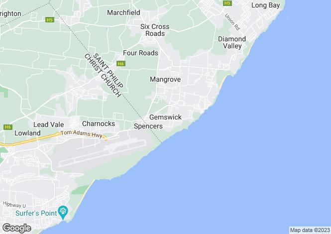 Map for Gemswick, St Philip