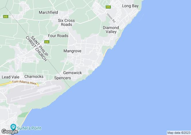 Map for Ocean City, St Philip