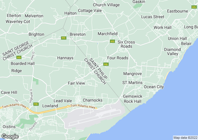 Map for Woodbourne, St Philip