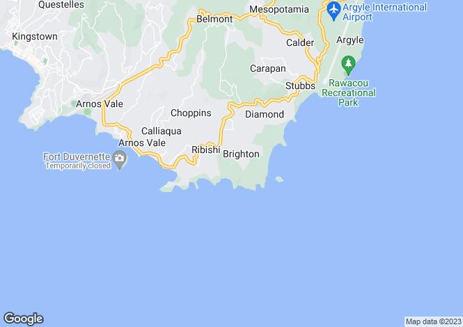 Map for Windscape House, Prospect, St Vincent & The Grenadines
