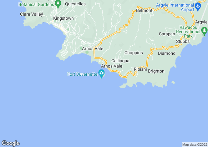 Map for Young Island - Saint Vincent, Young Island