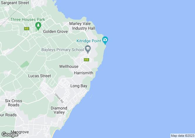 Map for St Philip, Bottom Bay