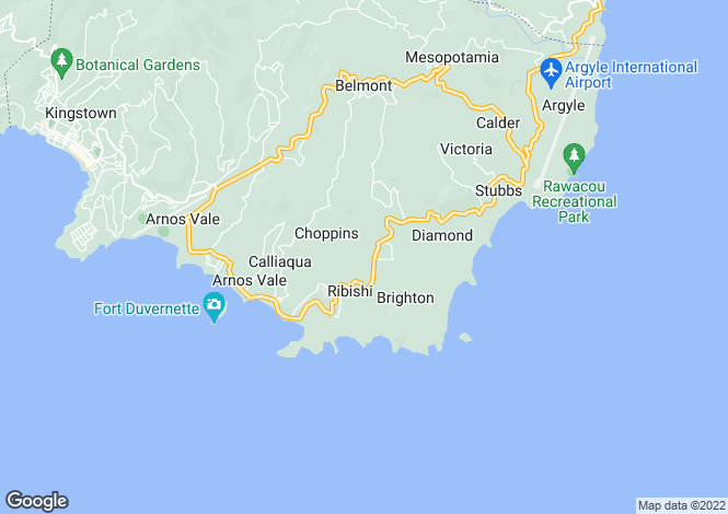 Map for Kingstown