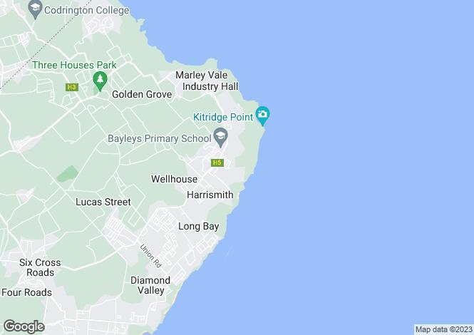 Map for Idyllic Villa, Castle Close, St Philip, Barbados