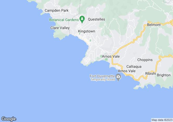 Map for Oceanview House - St.Vincent, Cane Garden