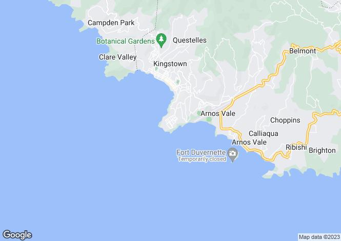 Map for Ocean Breeze - St.Vincent, Cane Garden