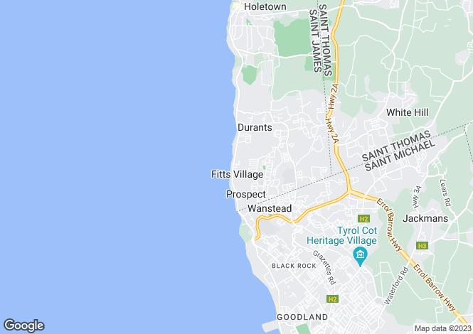 Map for Villa Bon, St James, Barbados