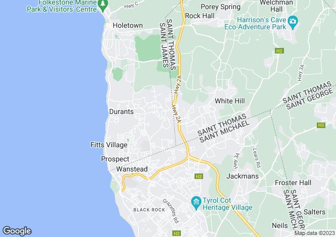 Map for Prior Park, St James