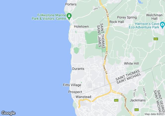 Map for 35 Sandy Lane, St James, Barbados