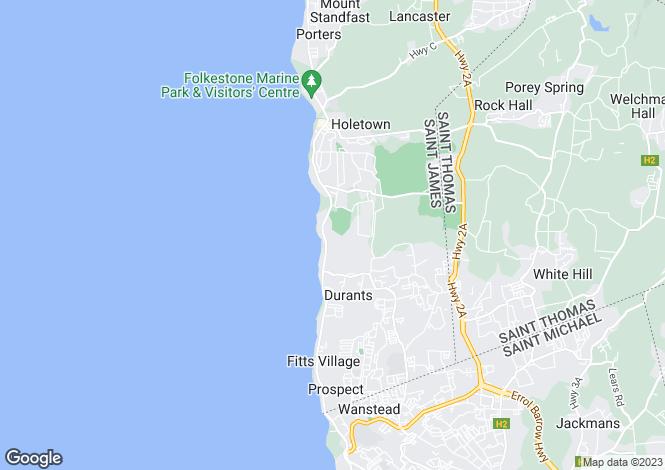 Map for St James, Sandy Lane