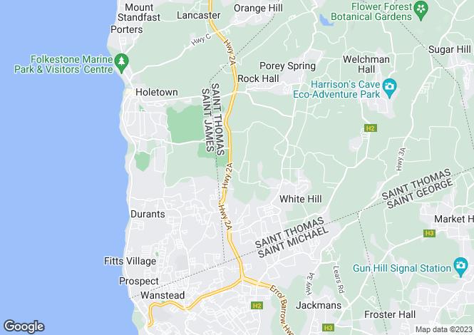 Map for Cane Garden, St Thomas
