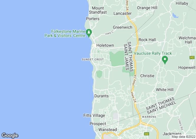 Map for Horizons House, Sandy Lane, St James