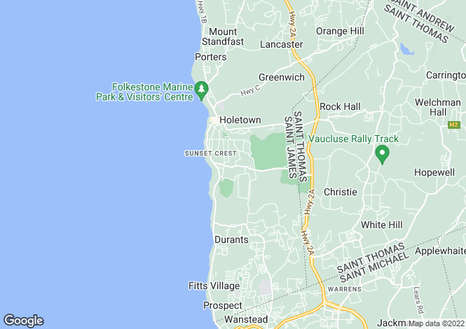 Map for Penridge, Sandy Lane, St James