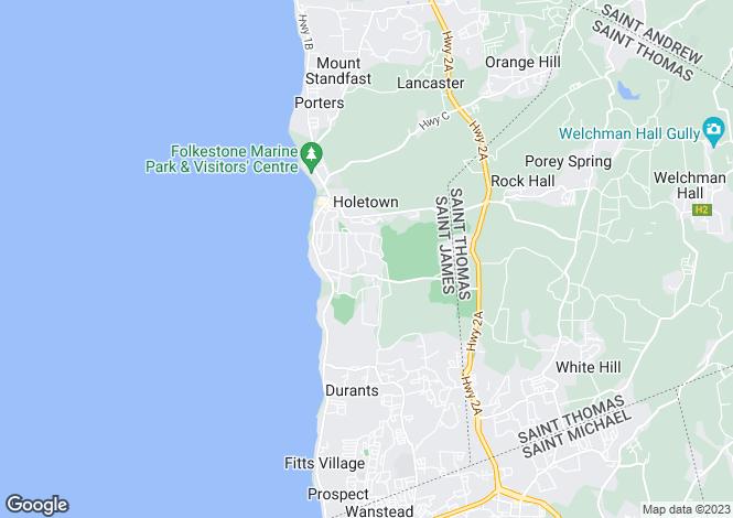 Map for Casa Caoba, Sandy Lane, St James