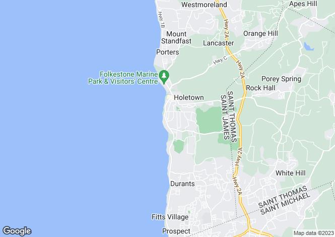 Map for St James, Sunset Crest