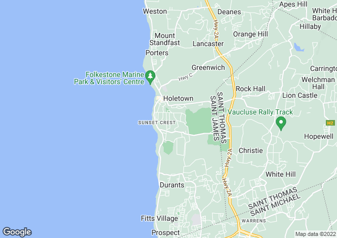 Map for Sandy Lane, St James