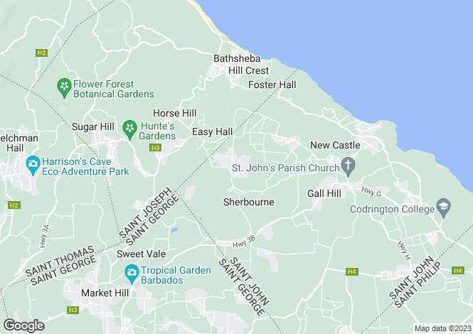 Map for St John, Venture
