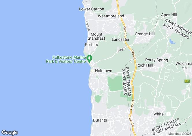 Map for Jamestown Park, Holetown, St. James, Barbados