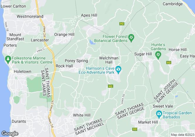 Map for Lion Castle, St Thomas