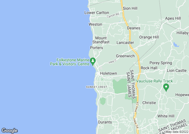 Map for Thespina, 3 Church Point, Folkestone, St. James, Barbados