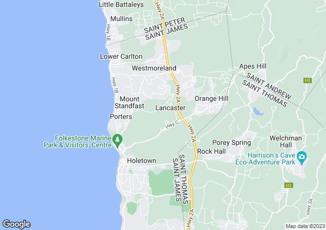 Map for Lancaster, St James