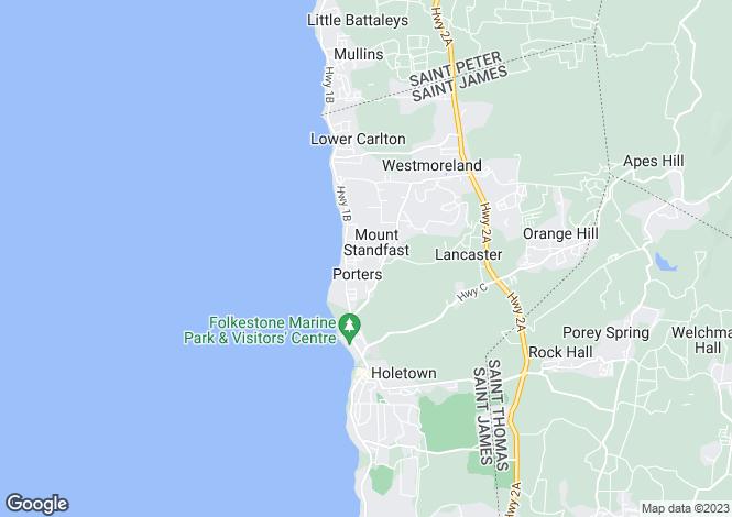 Map for Lime Villa, Westport, St James