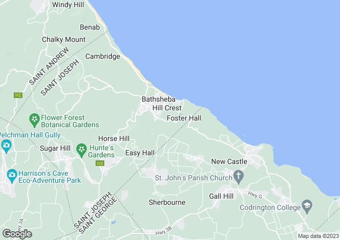 Map for St Joseph, Bathsheba