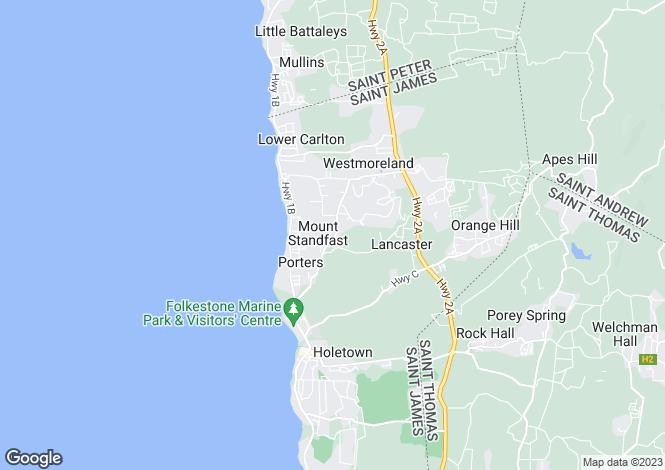Map for St Joseph, Sugarhill