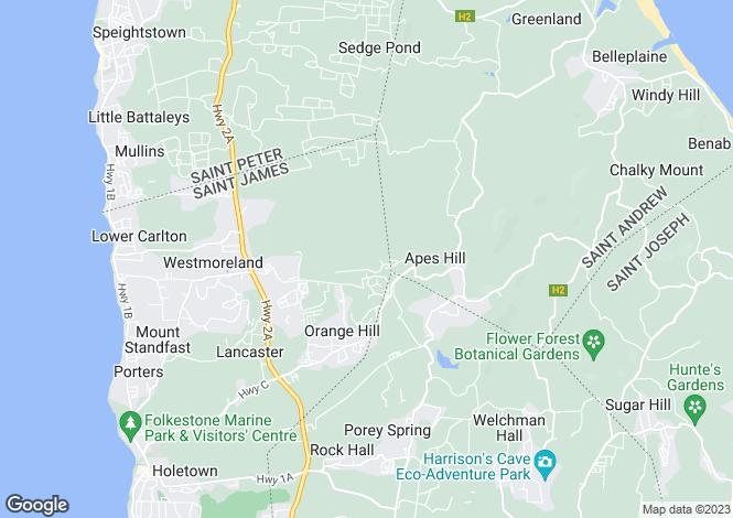 Map for Garden Wall Courtyard Villa, Apes Hill, St. James