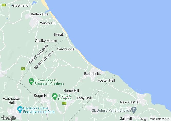 Map for Castle Grant Estate, Castle Grant, St Joseph, Barbados