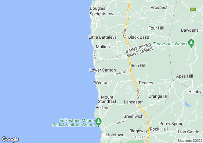 Map for Faul Haus, Lower Carlton, St James, Barbados