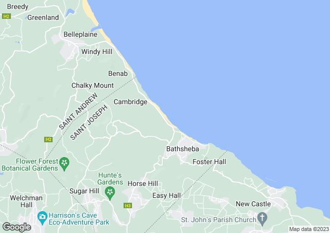 Map for St Joseph, Cattlewash