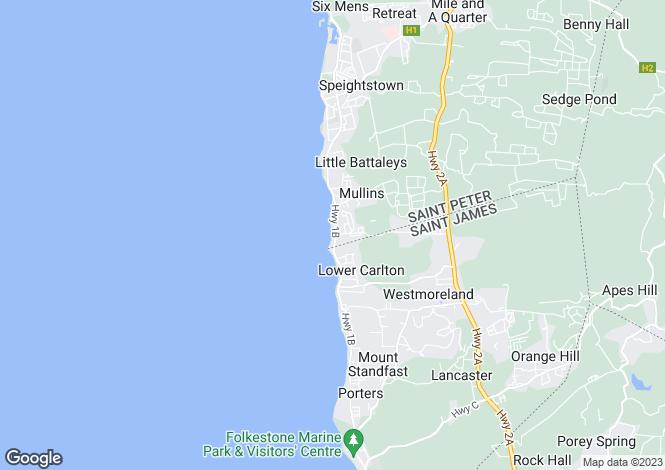 Map for El Refugio, St Peter, Barbados