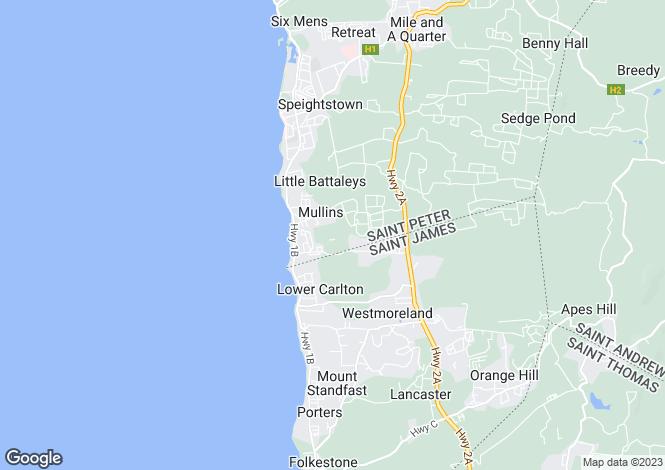 Map for St Peter, Gibbs