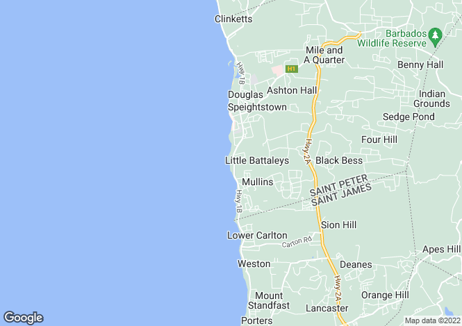 Map for St Peter, Maynards