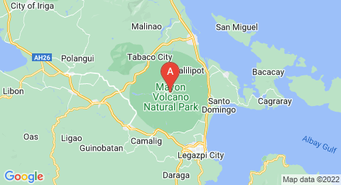 map of Mayon Volcano (Philippines)