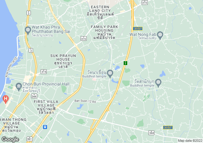 Map for Chon Buri