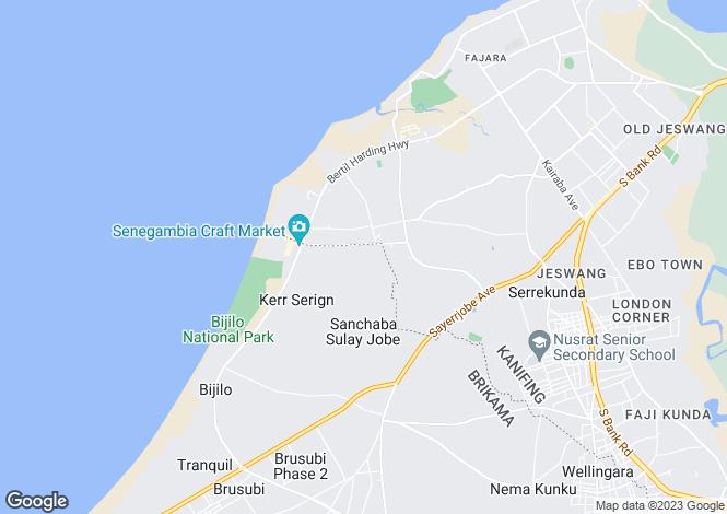 Map for Banjul