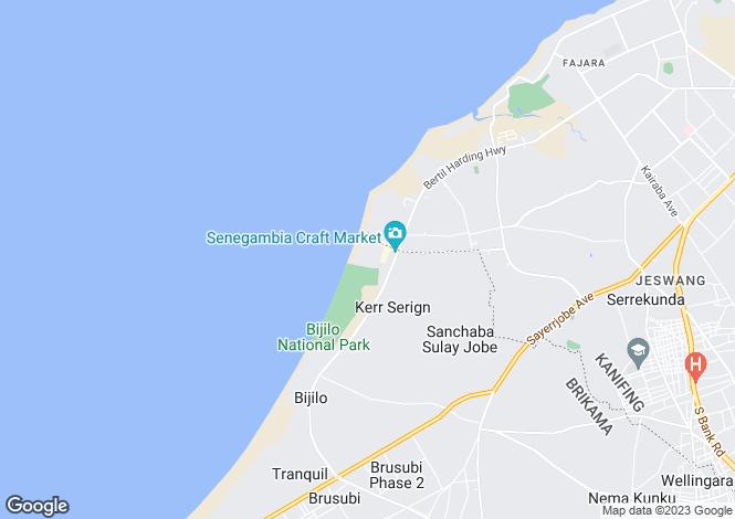 Map for Banjul, Banjul