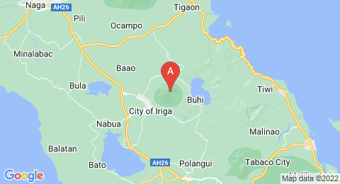 map of Mount Iriga (Philippines)