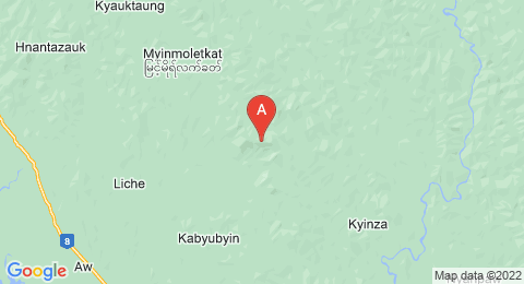 map of Myinmoletkat Taung (Myanmar)