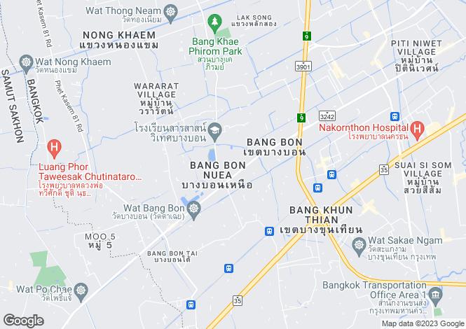 Map for Bang Bon, Bangkok