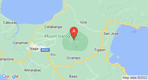map of Mount Isarog (Philippines)