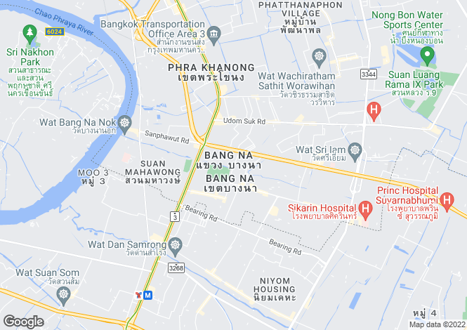 Map for Bang Na, Bangkok