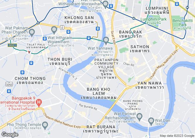 Map for Thon Buri