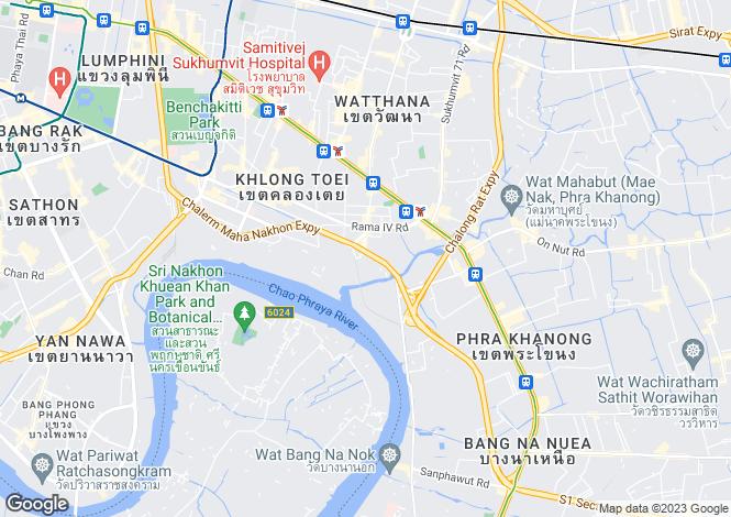 Map for Khlong Toei, Bangkok