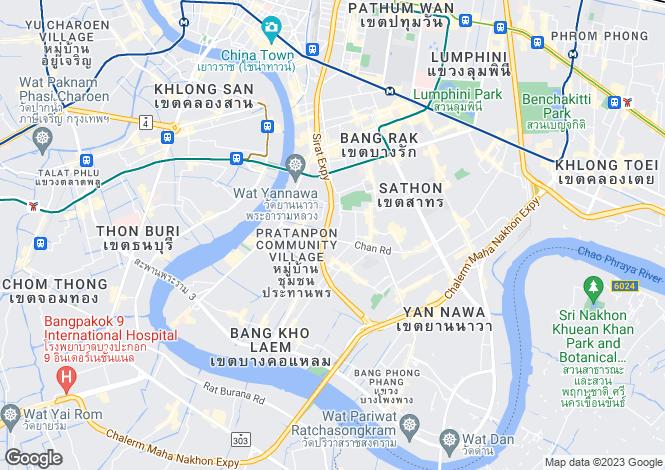 Map for Silom, Bangkok, Thailand
