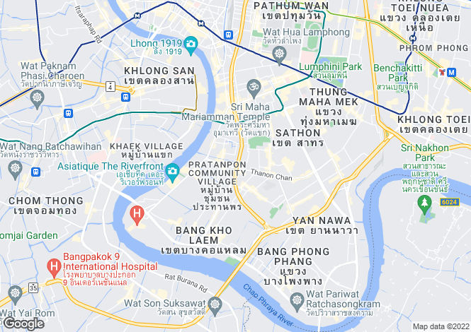 Map for Bangkok, Sathon