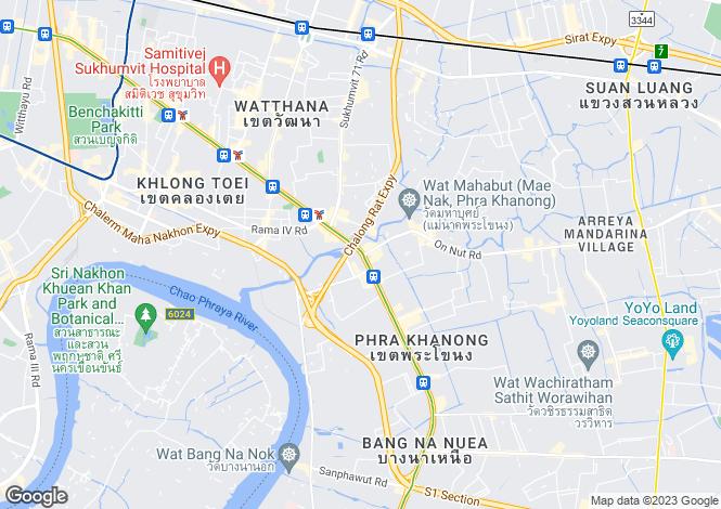 Map for Bangkok, Phra Khanong