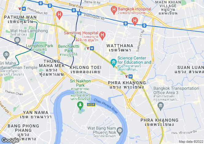 Map for Thailand